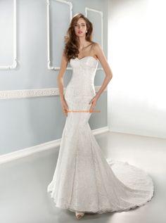 Cosmobella 7646 Estilo serina vestidos de novia de encaje
