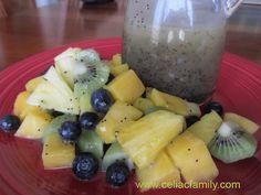 Tropical Fruit Salad with Honey Poppyseed Dressing Recipe