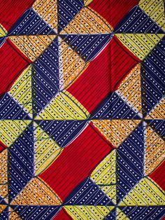 Super Wax Print African Fabric 6 Yards Cotton by Africanpremier,