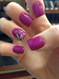 Purple with design on ring finger