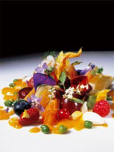 Beautiful seasonal salad from El Bulli, Catalonia