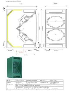 "Képtalálat a következőre: ""speaker plans"" Pro Audio Speakers, Diy Speakers, Car Audio, Subwoofer Box Design, Speaker Box Design, Speaker Plans, Loudspeaker, How To Plan, Image"