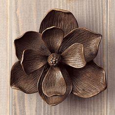 Magnolia Door Knocker #doorknocker #flowers #magnolia