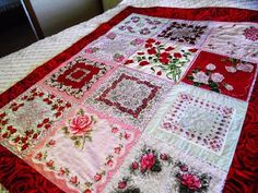 ROSE Vintage Hanky Quilt by Grannies Hankies I WANNA MAKE THIS! IT WOULD BE AN AWESOME TABLECLOTH TOO