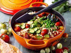 Minestrone mit grünem Gemüse