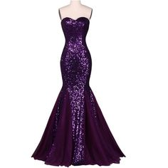 Grace Karin Sequins Long Dark Salmon Purple Mermaid Evening Dress gowns 2016 Sparkly Elegant Formal Party Dresses 7556