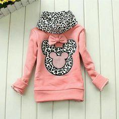 New Toddler Girls Hoodie Coat Kids Cute Minnie Mouse Bow Primer Shirt Costume Girls Sweaters, Baby Sweaters, Little Girl Fashion, Kids Fashion, Toddler Outfits, Kids Outfits, Baby Sweater Patterns, Baby Boy Knitting, Michaela