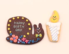 candle & snail cookies