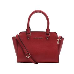 MICHAEL MICHAEL KORS Selma leather tote Wine Red