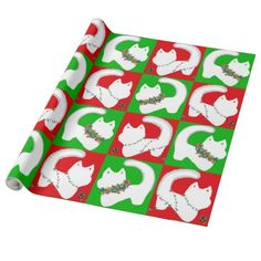 Christmas lights wrapping paper by SPKCreative Stationery and Gifts is the cat's meow.