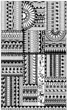 Zentangles are doodles & borders  #journal  found at http://indulgy.com/post/7ZGaHVCME1/zentangle#