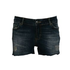 Dark blue denim shorts, five-pocket, with raw cut ending. Combine them with fluorescent knitted top and sandals for a cosy look. Blue Denim, Dark Blue, Denim Shorts, Glamour, Pants, Collection, Tops, Women, Fashion