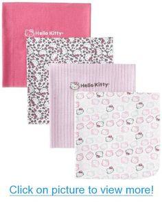 Hello Kitty Baby-Girls Newborn 4 Pack Flannel Blanket Set