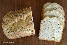 Receta del pan semi integral en panificadora.