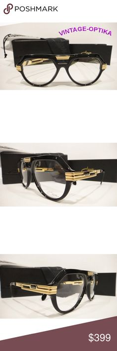 28b2c00d25f3 CAZAL 657 EYEGLASSES SHINY BLACK GOLD (COL-1) NEW These are 100%