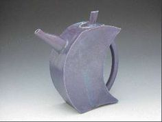 Blue ceramic teapot by Susanne Edgerton - Handmade pottery teapot - Modern design teapot tea pot - Functional pottery
