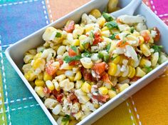 Spicy Grilled Corn Salad!!