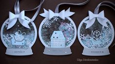 Building Your World: WHITE CHRISTMAS - DAY 21 - Snowglobe Shaker Tags