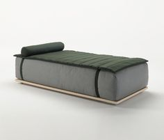 · day beds with removable cover · wooden frame in bleached iroko · metal brackets for units joining · cushions in polyurethane and polyester fiber ·..