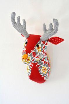 Deer Faux Taxidermy/Deer Trophy Head/ Fabric Animal