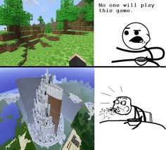 """One pinner says, """"Proved you wrong. Minecraft is so addictive."""" OMG Wow. Yes."""