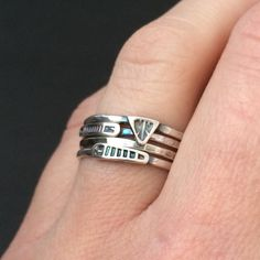 Hey, I found this really awesome Etsy listing at https://www.etsy.com/listing/220084409/stacking-rings-sterling-silver-rings