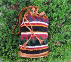 60s Boho Chic Tribal Woven Tapestry Southwest by VendageTresors