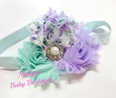 Flower Headband Vintage Floral Hair Bows by NicilynsBabyBoutique