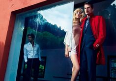 Hugo Boss Black Spring 2011 Ad Campaign. Love the red trench
