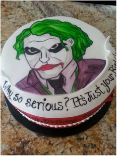 Joker Cake! Joker Cake, Peacock Feather Tattoo, Caking It Up, Rock Painting, Business Ideas, Painted Rocks, Board, Holiday, Character
