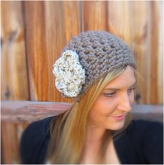 The Stella Womens Slouch Hat With DETACHABLE by oliviashotknots