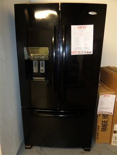 Whirlpool-Gold Black 28 cu ft French Door Refrigerator only $1400!