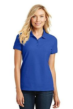 7ae5b46e0f58ea Port Authority Ladies Core Classic Pique Polo. L100. Carolina BlueCoreCasual  T ShirtsCorner ...