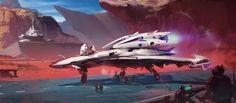 sciencefictionworld: Spacecraft Takeoff by Thibault Girard  ...