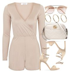 """Sin título #12877"" by vany-alvarado ❤ liked on Polyvore featuring D'Blanc, Topshop, ALDO, Stuart Weitzman and Gucci"
