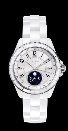 CHANEL J12 Moonphase White Ceramic - so clean and cool but would probably die within a week the way all watches do on me...
