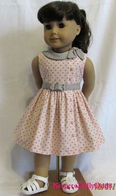 Third version of the Side tie collar dress. My American Girl Doll, American Doll Clothes, Ag Doll Clothes, African Dresses For Kids, Dresses Kids Girl, Girl Outfits, Baby Girl Dress Patterns, Kids Frocks Design, Frocks For Girls