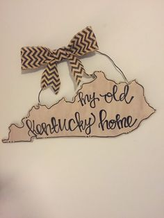 My Old Kentucky Home Door/Wall Hanger by CraftyinKY on Etsy