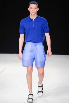 shorts are cool fabric  » Christopher Shannon Spring/Summer 2014