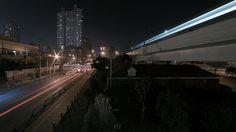 . Night with light