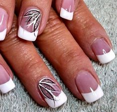 53 Amazing French Manicure Nail Art Designs Ideas - The most beautiful nail designs French Nail Art, French Nail Designs, Diy Nail Designs, French Manicure With Design, Nails Design, Thin Nails, Fancy Nails, Trendy Nails, Classy Nails