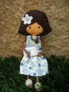 felt doll brooch- she's just cute!