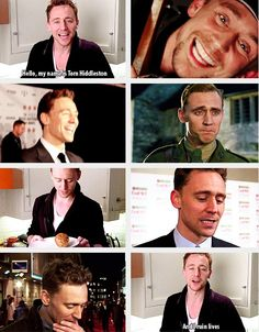 #TomHiddleston | looks at the baked potato as if he wants to apologise to it for eating it.