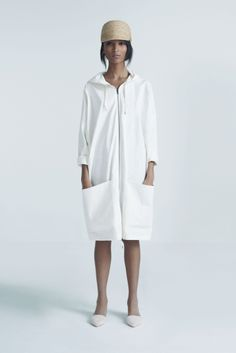 Safa Cap and Sky Coat | Samuji Pre-Fall 2014 Collection
