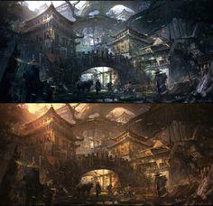 Old Village by Juan Pablo Roldan | Fantasy | 2D | CGSociety