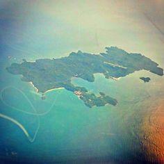 Isla Pedro González vista desde bien arriba.