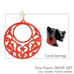 Pure Poison - Coral Earrings - Group GIFT | Flickr - Photo Sharing!