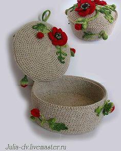 Discover thousands of images about Şevvalce Hobi Crochet Decoration, Crochet Home Decor, Crochet Gifts, Diy Crochet, Crochet Stitches, Crochet Patterns, Crochet Bowl, Crochet Storage, Knit Basket