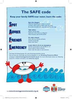 SAFE code leaflet | Drowning Prevention Week