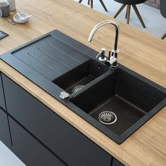 This amazing glass sink can be a very inspirational and exceptional idea - This amazing glass sink can be a very inspirational and exceptional idea Les images impre - Kitchen Sink Design, Loft Kitchen, New Kitchen, Kitchen Interior, Kitchen Sinks, Glazed Kitchen Cabinets, Kitchen Backsplash, Sink Countertop, Countertops